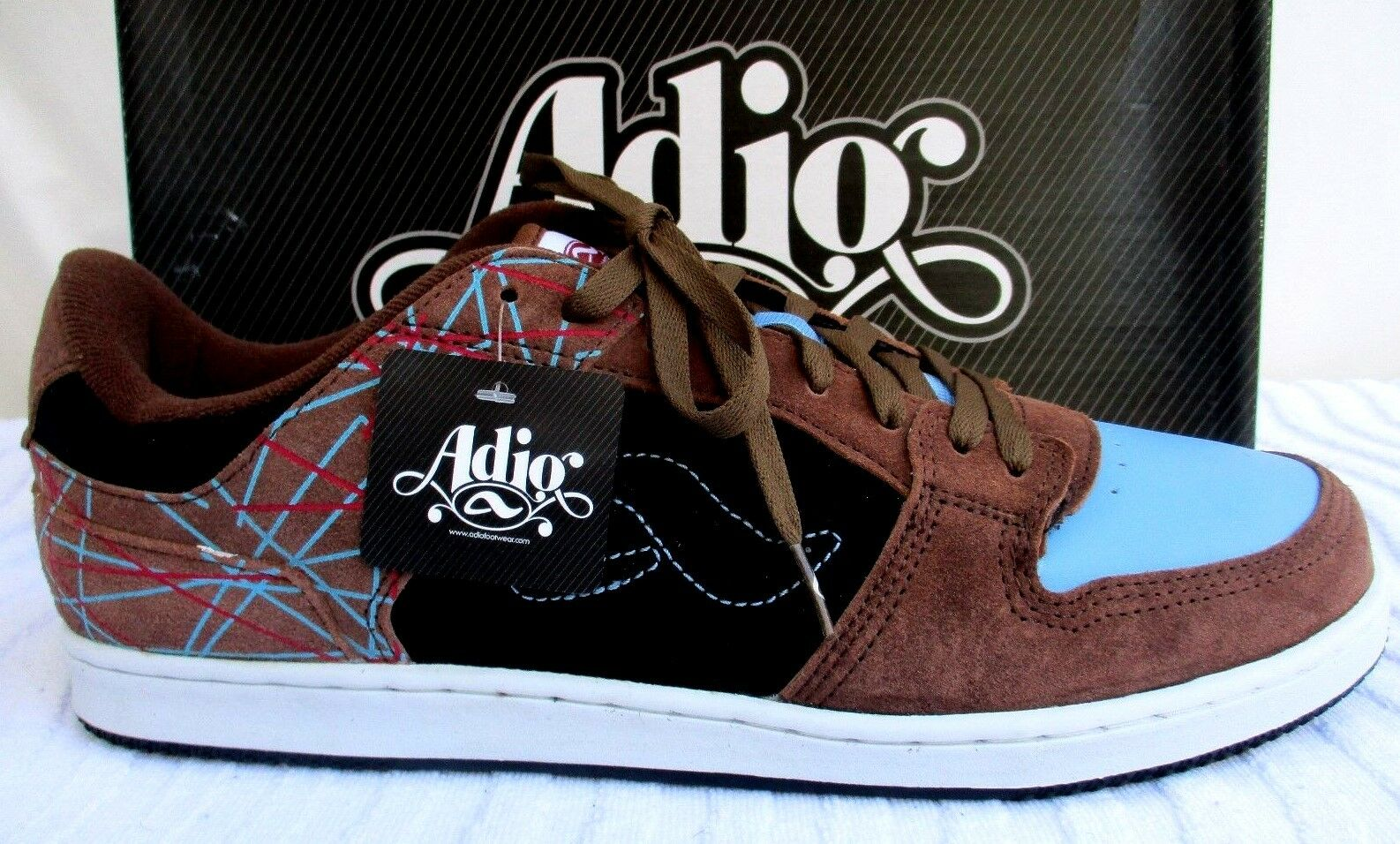 ADIO..MONROE..SUEDE LEATHER..SKATE BOARD..SHOES..NEW in BOX..sz 14
