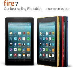 "Amazon Fire 7"" (2017 -7th Gen) WiFi Tablet, Touchscreen, Alexa, Dual-Band - New!"