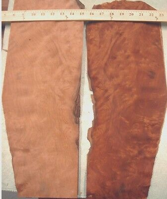 "Madrone (Madrona Cherry) Burl wood veneer 6"" x 20"" raw with no backing 1/42"""