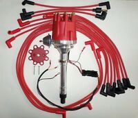 Small Block Chevy 350 Pro Series Hei Distributor, Spark Plug Wires Under Exhaust