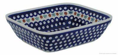 Original Bunzlauer Keramik Auflaufform 26,0 x 21,8 cm H = 7,0 cm im Dekor 42
