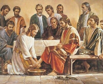 "Lord Jesus Christ washing the Apostles feet Art Print 8""x 10"" Christian Photo 11"