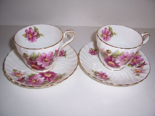 Aynsley England Fine Bone China Cup and Saucer Pair