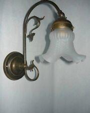 Applique lampada in ottone liberty fiore casa arredo