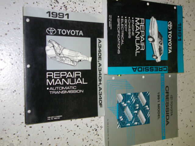 1991 Oem Toyota Cressida Service Shop Repair Manual Set W Ewd  U0026 Transmission