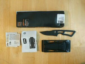GERBER GHOSTRIKE Fixed Blade 420HC Blade KNIFE & Sheath USA Made - READ