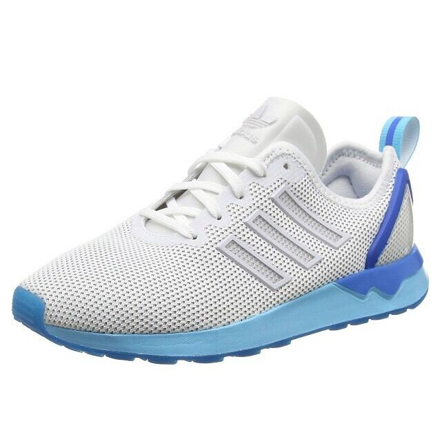 Adidas Unisex Adults Zx Flux Adv Running schuhe, Weiß Blau Glow 4.5 UK 37.5 EU