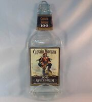 Melted Flat Fused Captain Morgan 100 Liquor Bottle