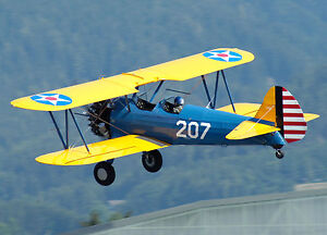 Details about 1/3 Scale STEARMAN PT-17 RC Giant Scale Model AIrplane  Printed Plans