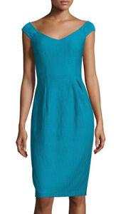 bd675eae4e63 Nanette Lepore ~ Blue Tide Textured Off Shoulder V-Neck Sheath Dress ...