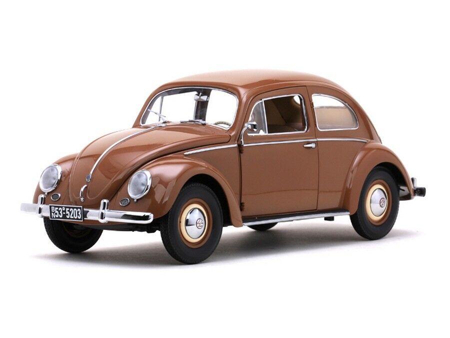 Sunstar 1 12 scale 1953 Volkswagen Beetle Saloon marron. New in Box.