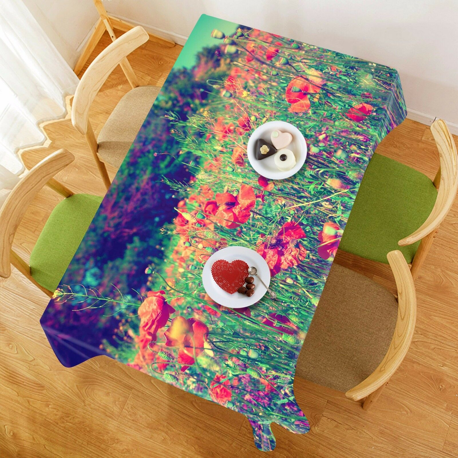 3D Field 726 Tablecloth Table Cover Cloth Birthday Party Event AJ WALLPAPER AU