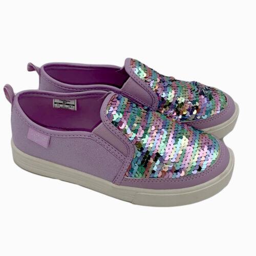 New OshKosh B/'gosh Girls Toddler Rainbow Glitter Slip On Shoes Size 13