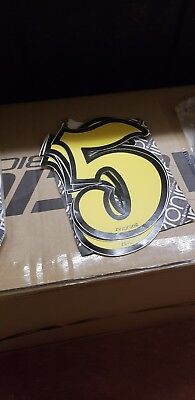 NOS Zeronine bmx numbers #6 yellow