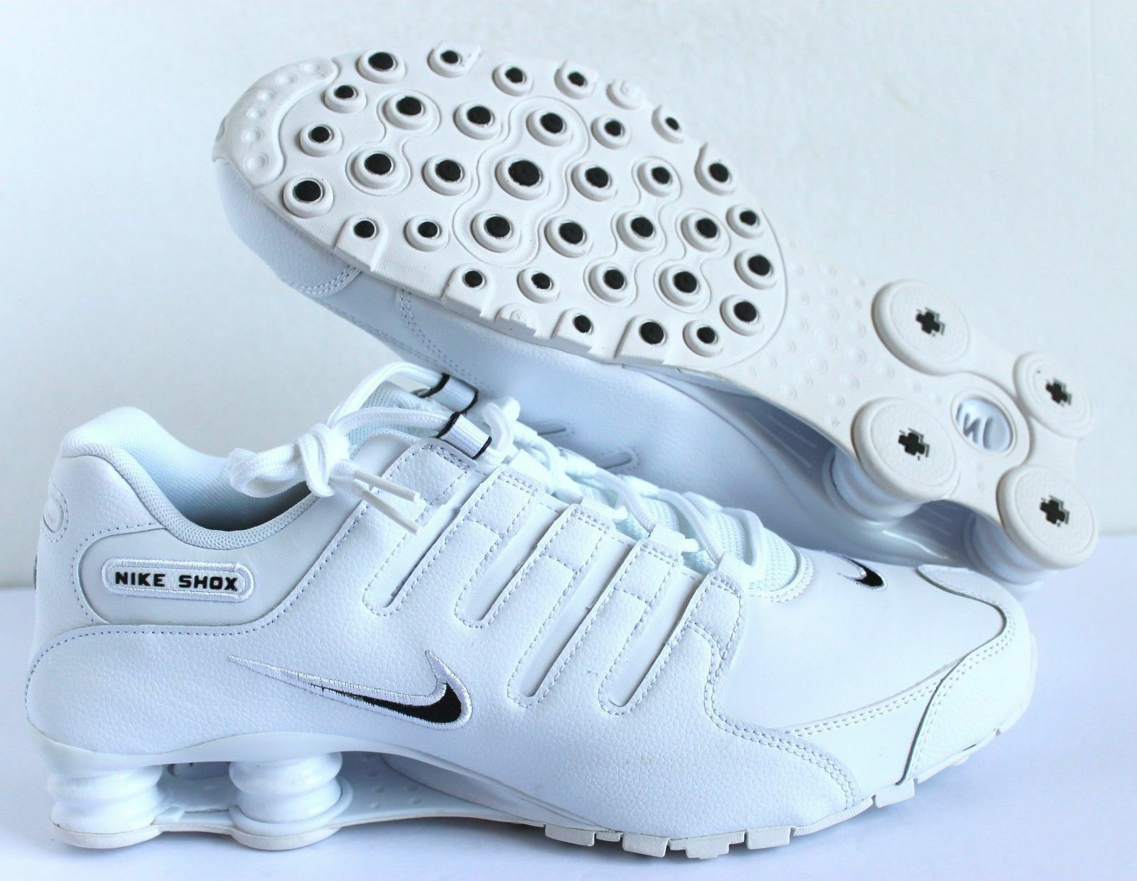 NIKE Uomo SHOX NZ EU WHITE-BLACK SZ 11.5