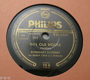 Nice-Price-Rosemary-Clooney-This-Ole-House-The-Little-Shoemaker-PHILIPS