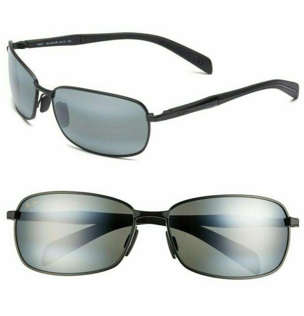 3c7e43c3ecc7 Maui Jim Long Beach 240-2m Matte Black Grey Polarized Sunglasses Authentic 8