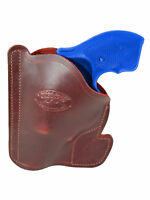 Barsony Burgundy Leather Gun Pocket Holster S&w 2 Snub Nose 38 357 Revolver