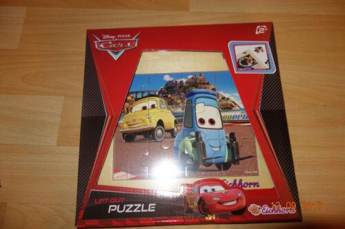 Holzpuzzle Steckpuzzle Einlegepuzzle Puzzle Disney Pixar Cars blau/gleb Eichhorn Setzpuzzle
