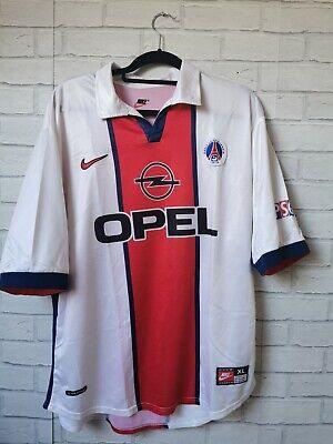 PARIS SAINT GERMAIN PSG 1998-1999 AWAY ORIGINAL VINTAGE NIKE FOOTBALL SHIRT XL | eBay