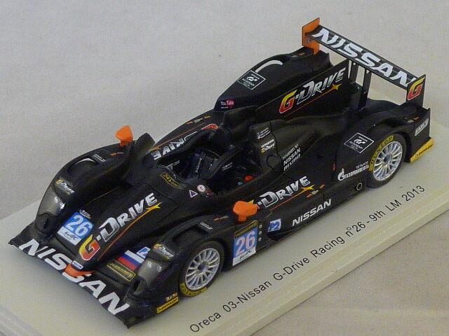 Spark S3748 - ORECA 03-Nissan G-Drive Racing n°26 Le  Mans 2013 M. Conway 1 43  vente discount en ligne