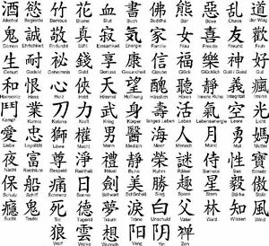 chinesische schriftzeichen aufkleber wandtattoo auto. Black Bedroom Furniture Sets. Home Design Ideas