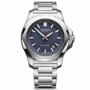 Victorinox-Swiss-Army-Men-039-s-Watch-I-N-O-X-Blue-Dial-241724-1-Authorized-Dealer