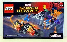 76058 LEGO SUPER HEROES recipe NUOVO-SPIDERMAN-Ghost Rider TEAM-UP