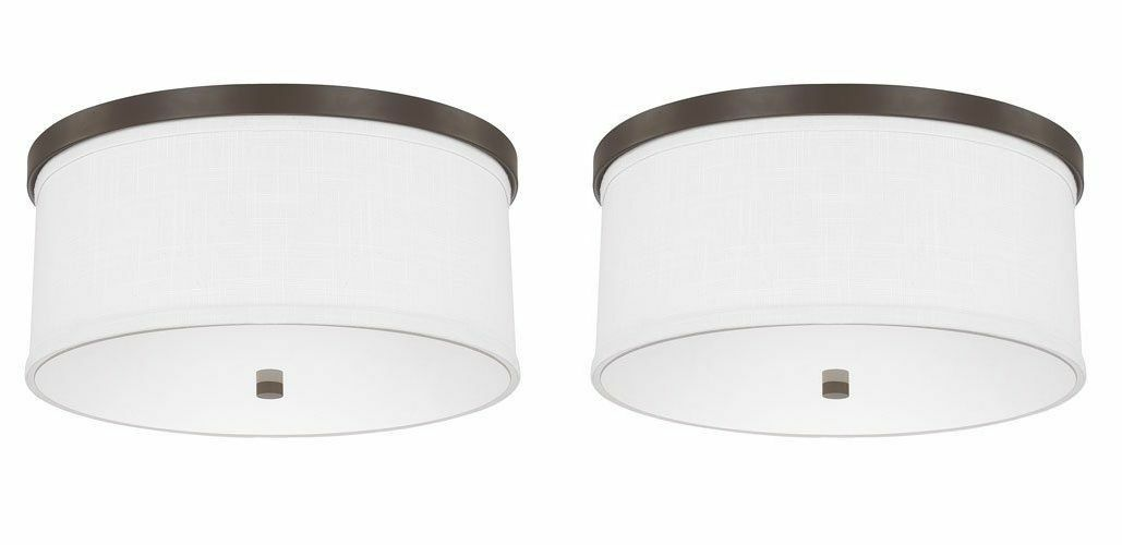 Capital Lighting 2015MN-480 - 3 Light Ceiling Fixture, Burnished Bronze - 2 Pack
