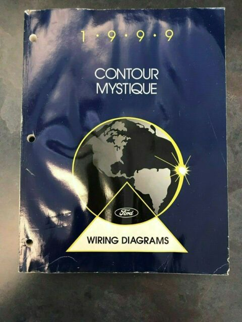 1999 Ford Contour Mystique Wiring Diagram Shop Book Manual