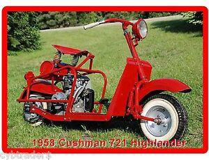 1958 Cushman 721 Highlander Motor Scooter Refrigerator Tool Box
