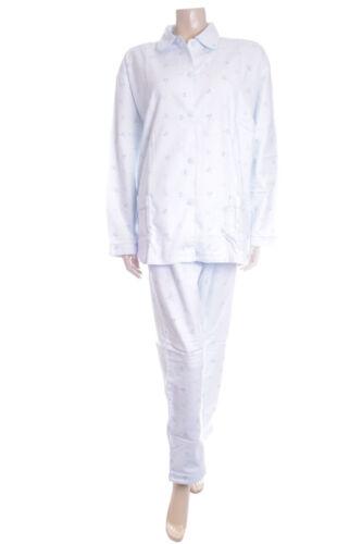 Waites Bleu Avec Pois En Coton Brossé Pyjamas Pyjama Taille L 16 18 5002