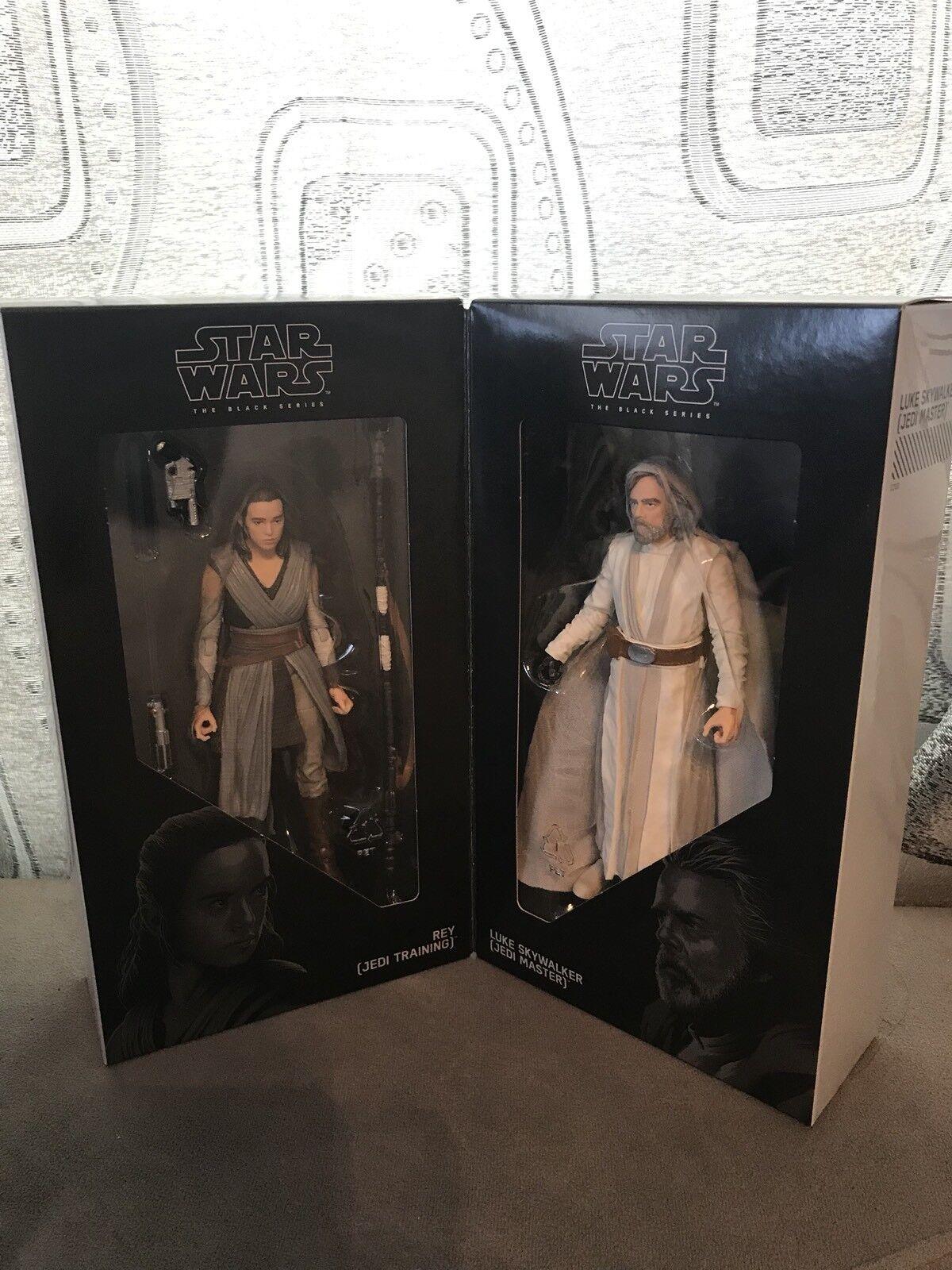 Luke Skywalker Jedi Master & Rey entrenamiento Jedi Estrella Wars Conjunto de La Serie Negra