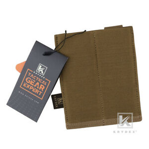 KRYDEX Double 9mm Pistol Mag Pouch Fast Draw Mag Elastic Carrier Coyote Brown