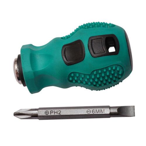Dual-Purpose Stubby Screwdriver Magnetic Short Screw Driver Repair Tool Surprise