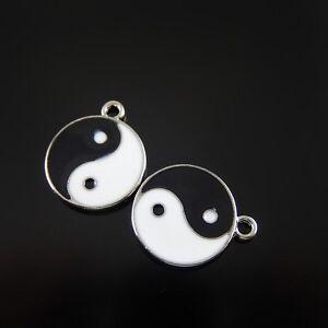 20pcs-Black-amp-White-Enamel-Alloy-Mini-Tai-Chi-Shaped-Pendants-Charms-Jewelry-52106