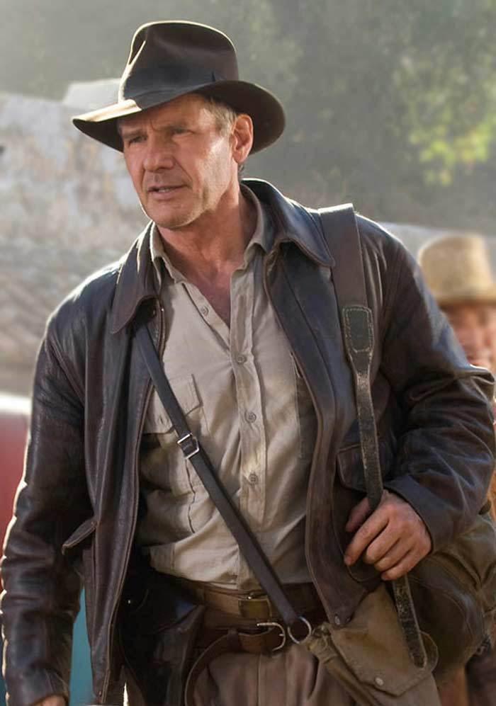 Indiana Jones Harrison Ford Marron Vintage Authentique Peau de Mouton