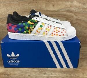 3486b1cabb98 Image is loading Adidas-Originals-SuperStar-Pride-Pack-Shoes-White-Rainbow-