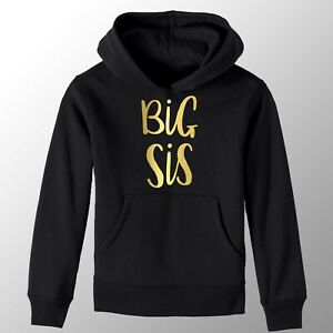 Black-amp-Gold-Big-Sister-Girls-T-Shirt-Printed-Pregnancy-Reveal-Party-Gift-Hoody