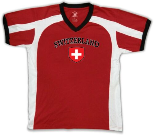 Switzerland Flag Crest Swiss Suisse National Country Pride Retro Sport T-shirt