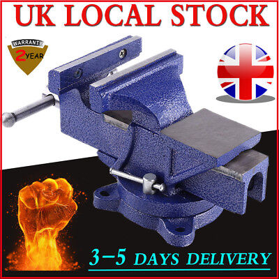 """4/""""//5/""""//6/"""" Heavy Duty Work Bench Vice Engineer Jaw Swivel Base Workshop Vise Clamp"""