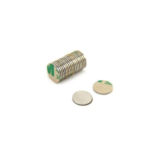 Magnetastico®20 Stk starke selbstklebende Neodym Magnete N52 Scheibe 10x1 mm