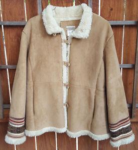 Op button lys Tan Fur Creek Lining faux stylede Coldwater xlg Coat ærmer FYq04w8w