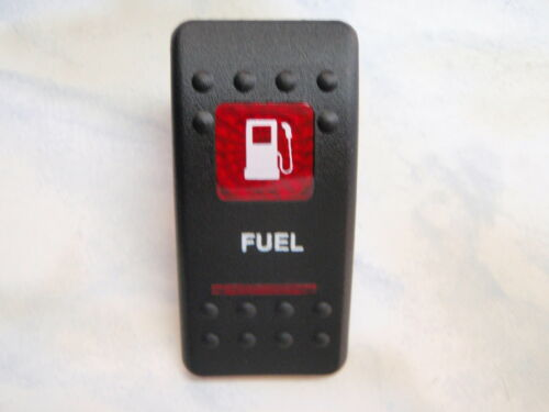 FUEL SWITCH VJD1A60B ON//OFF//ON 1 INDEPENDENT LIGHT BLACK RED LENS TANK SELECTOR