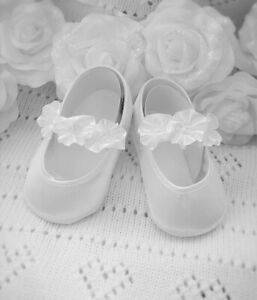 Détails sur Chaussures ballerines bébé fille mariage baptême cérémonie NEUF 1 3mois poupées