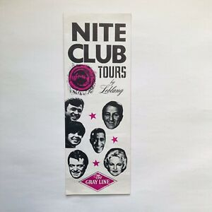 Vintage Night Club Tours By Leblang Travel Brochure Gray Line Hollywood Florida