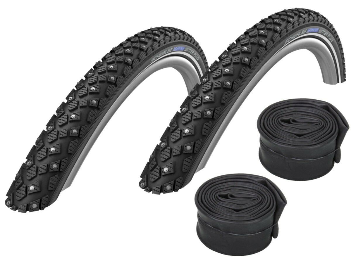 2 x Schwalbe Marathon Winter plus Bike Spike Tire 20   -28+ Hoses