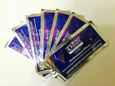 Crest 3D Whitestrips Luxe Whitening Strips Professional Effects 7 Pouch 14 Strip