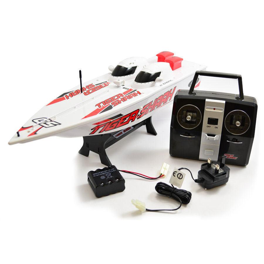HOBBY ENGINE 0306 R C Radio Control Tiger Shark 2.4Ghz Speed Boat 306 -  NEW