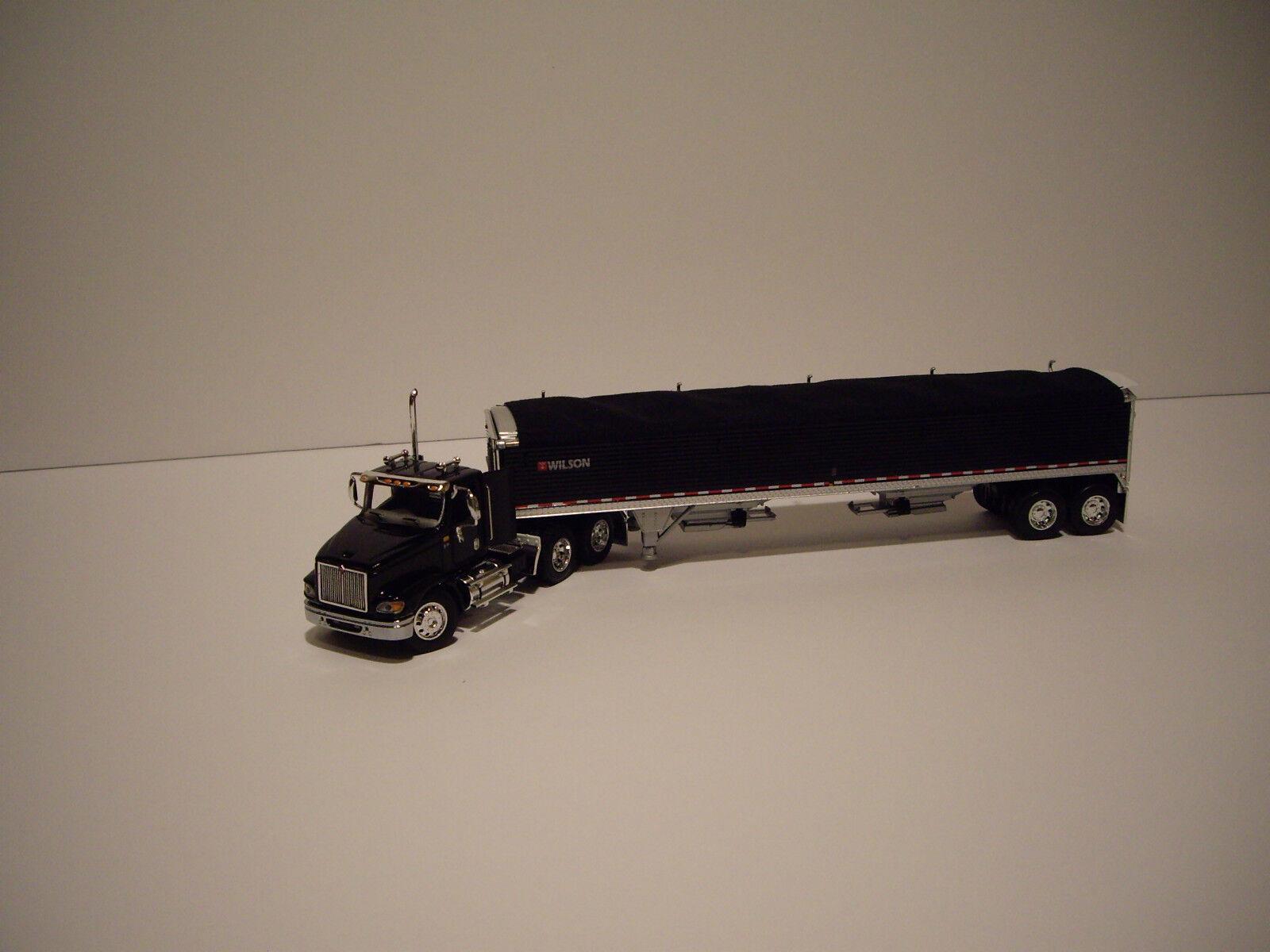 calidad de primera clase DCP 1 64 Negro Internacional 9100i Daycab y negro con con con remolque de Grano Negro Lona  preferente